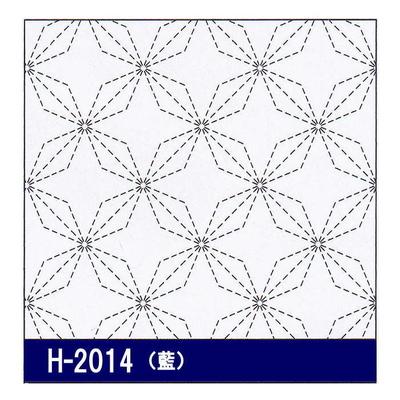 H-2014 オリムパス 花ふきん布パック 花菱 (藍)