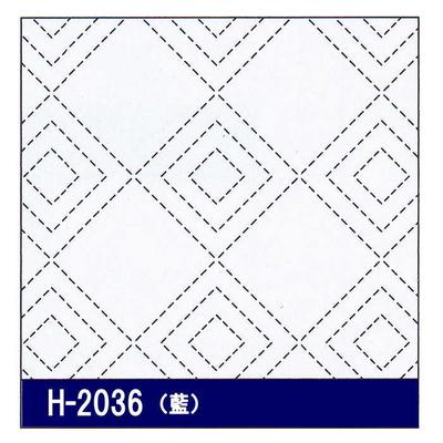 H-2036 オリムパス 花ふきん布パック 立三枡 (藍)