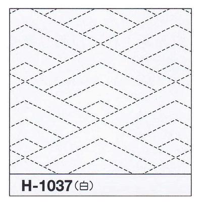 H-1037 オリムパス 花ふきん布パック 菱青海波 (白)