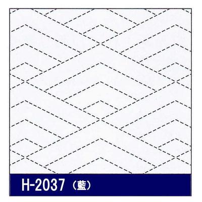 H-2037 オリムパス 花ふきん布パック 菱青海波 (藍)