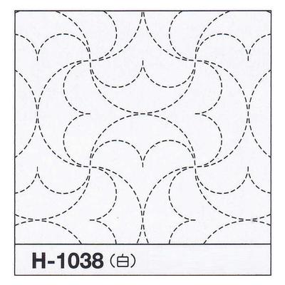 H-1038 オリムパス 花ふきん布パック 半丸つなぎ (白)
