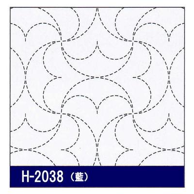 H-2038 オリムパス 花ふきん布パック 半丸つなぎ (藍)