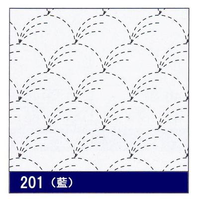 H-201 オリムパス 花ふきん布パック 野分 (藍)