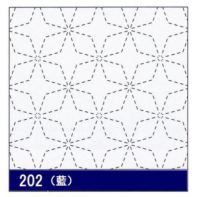 H-202 オリムパス 花ふきん布パック 角七宝 (藍)