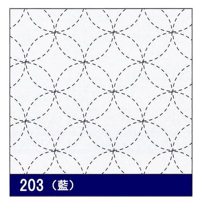 H-203 オリムパス 花ふきん布パック 七宝つなぎ (藍)