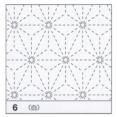 H-06 オリムパス 花ふきん布パック 麻の葉 (白)
