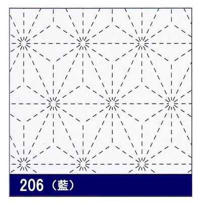 H-206 オリムパス 花ふきん布パック 麻の葉 (藍)
