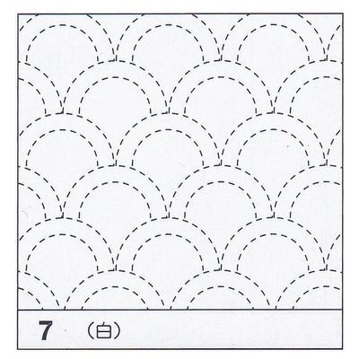 H-07 オリムパス 花ふきん布パック 青海波 (白)
