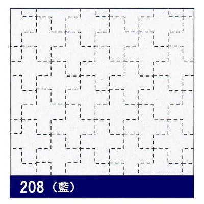 H-208 オリムパス 花ふきん布パック 十字つなぎ (藍)