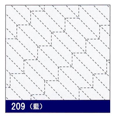 H-209 オリムパス 花ふきん布パック 矢羽根 (藍)