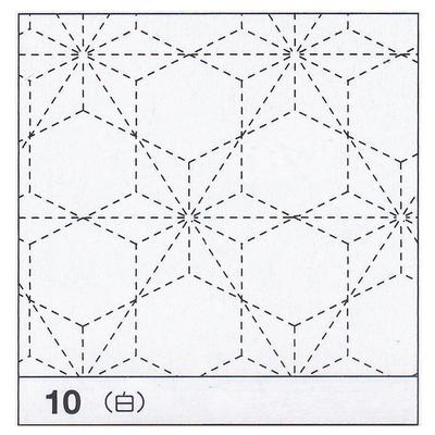 H-10 オリムパス 花ふきん布パック 飛び麻の葉 (白)