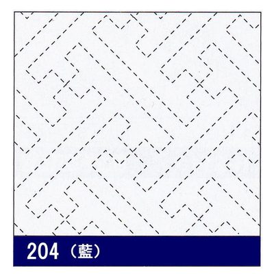 H-204 オリムパス 花ふきん布パック 紗綾形 (藍)