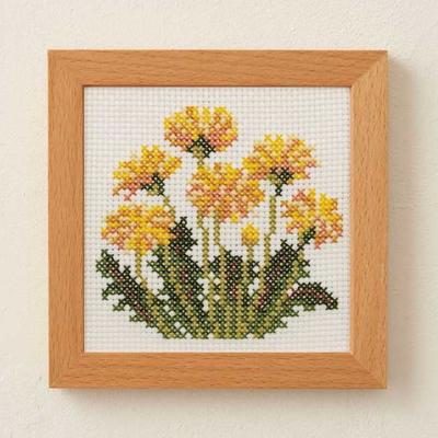 No.886 ルシアン 刺繍キット 小さな花のフレーム タンポポ