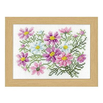 No.7516 オリムパス 刺繍キット 12ヶ月の花フレーム 9月 コスモス