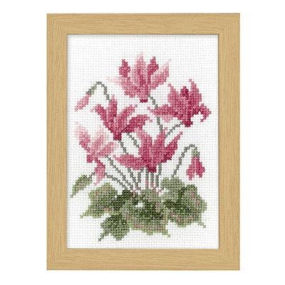 No.7518 オリムパス 刺繍キット 12ヶ月の花フレーム 11月 シクラメン