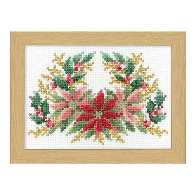 No.7519 オリムパス 刺繍キット 12ヶ月の花フレーム 12月 ポインセチア