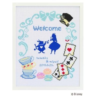 No.7467 オリムパス ディズニー刺繍キット ウェルカムボード 不思議の国のアリス
