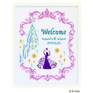 No.7468 オリムパス ディズニー刺繍キット ウェルカムボード アナと雪の女王