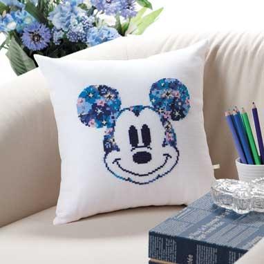 No.6048 オリムパス ディズニー刺繍キット ミニクッション ミッキーマウス