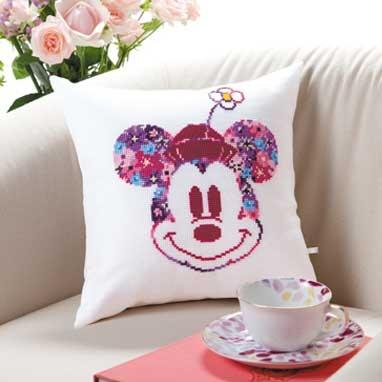 No.6049 オリムパス ディズニー刺繍キット ミニクッション ミニーマウス