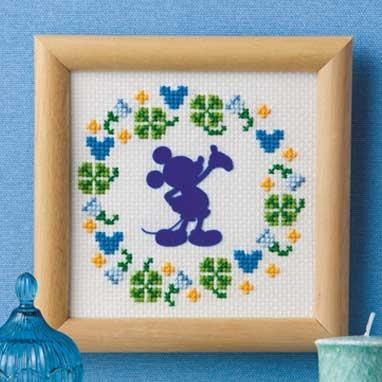 No.7369 オリムパス ディズニー刺繍キット ミニフレーム ミッキーマウス