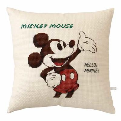 No.6032 オリムパス ディズニー刺繍キット クッション ミッキーマウス