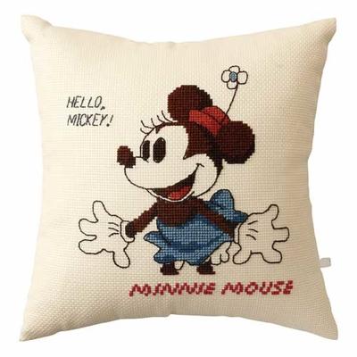 No.6033 オリムパス ディズニー刺繍キット クッション ミニーマウス