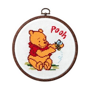 No.7324 オリムパス ディズニー刺繍キット プーさん おしゃれフープ付き