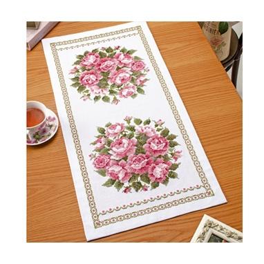 スウィートローズ テーブルセンター 刺繍キット No.1195