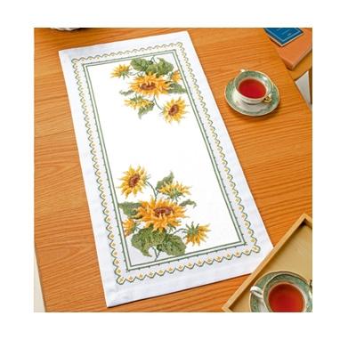 サンフラワー テーブルセンター 刺繍キット No.1196