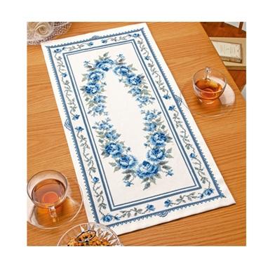 ブルーローズ テーブルセンター 刺繍キット No.1197