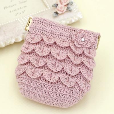 花びらのポーチ 編み物キット EG-99