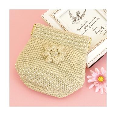 お花のポーチ ベージュ 編み物キット EG-108