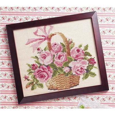 バラの花かご 刺繍キット No.887
