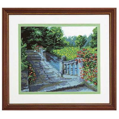 No.7016 オリムパス 刺繍キット ブリティッシュガーデンシリーズ 水辺の庭園