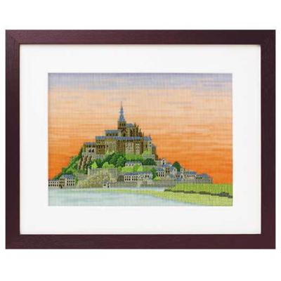 No.7211 オリムパス 刺繍キット 世界遺産と世界の風景から モン・サン・ミシェル