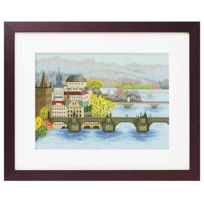 No.7210 オリムパス 刺繍キット 世界遺産と世界の風景から カレル橋