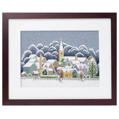 No.7177 オリムパス 刺繍キット フォー・シーズンズ コッツウォルズの冬
