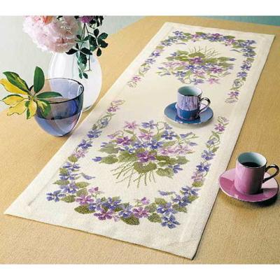 スミレのテーブルセンター 刺繍キット No.1189