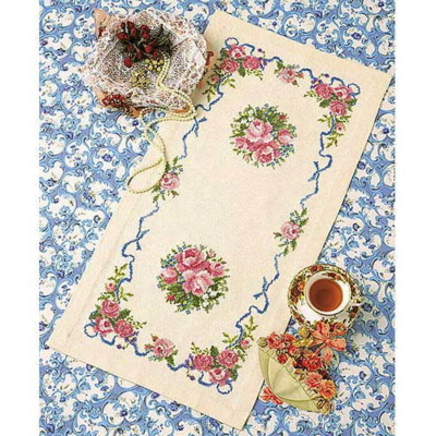 ローズガーデン テーブルセンター 刺繍キット No.1176
