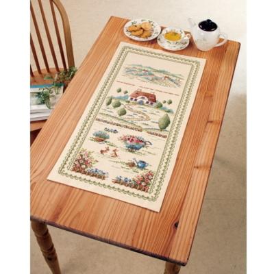 田園の風景 テーブルセンター 刺繍キット No.1199