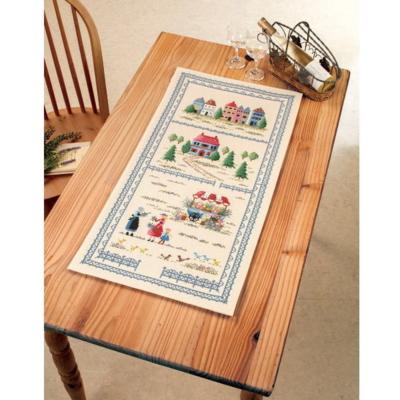 街の風景 テーブルセンター 刺繍キット No.1198
