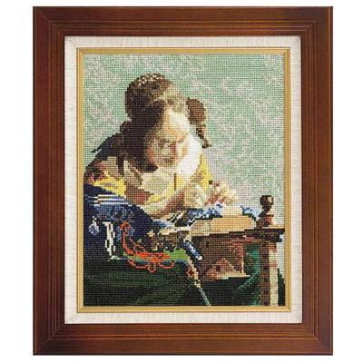 レースを編む女 フェルメール作 刺繍キット No.878