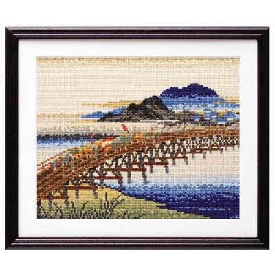岡崎(矢矧之橋) 広重画 刺繍キット No.7143