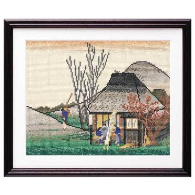 鞠子(名物茶店) 広重画 刺繍キット No.7141