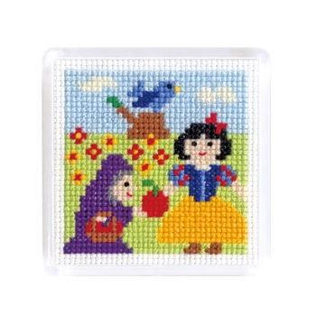 No.9061 オリムパス 刺繍キット ものがたりシリーズ マグネット 白雪姫