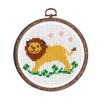 ライオン かんたんクロス・ステッチ おしゃれフープ付き No.7392