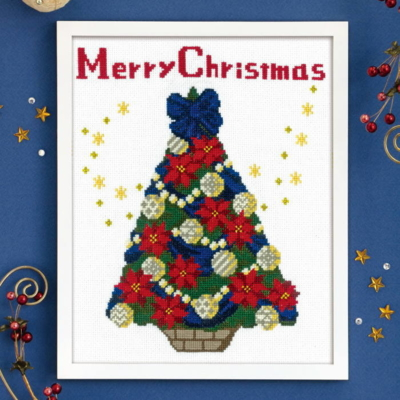聖夜のツリー クリスマス クロスステッチフレーム X-107