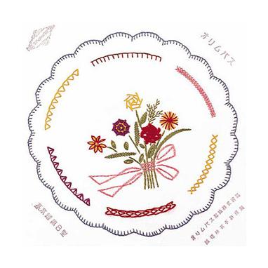 オリムパス フランス刺しゅうキット 基本縫 8型