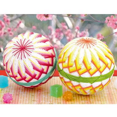 満開の桃 桃の節句の飾りや出産のお祝いに 手まりキット TM-11